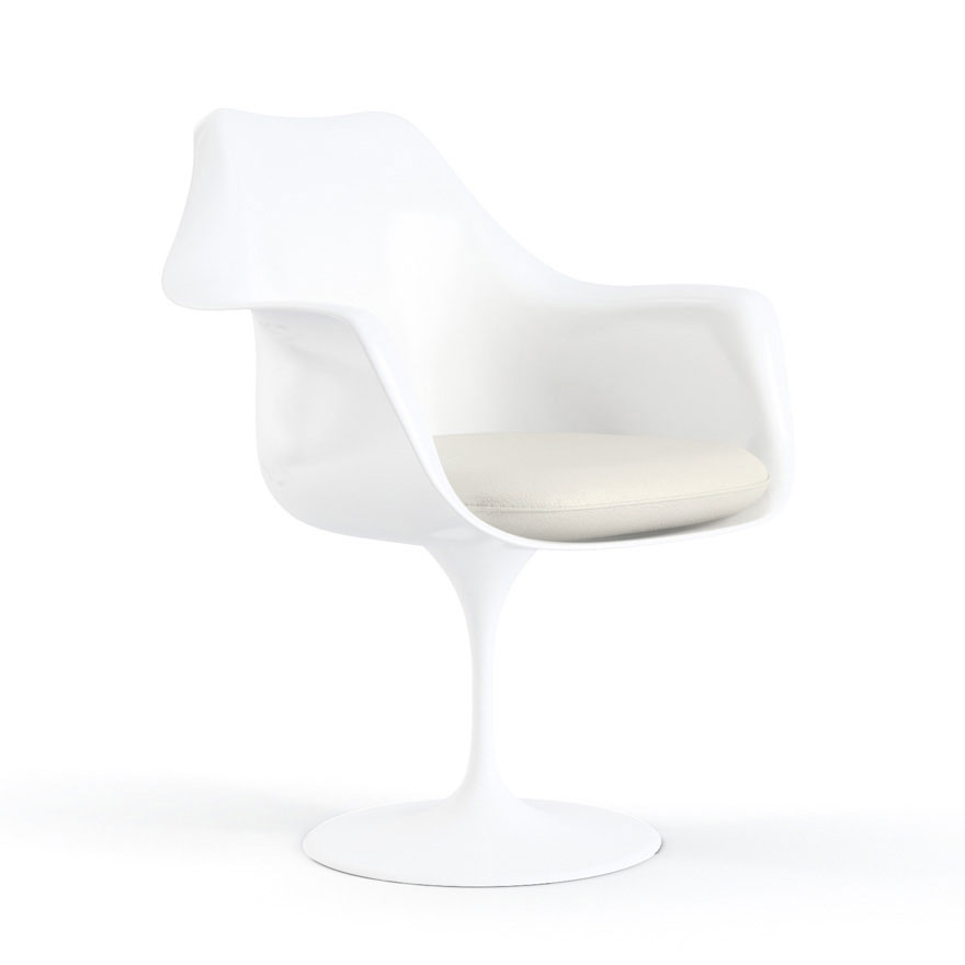 Knoll tulip arm chair door eero saarinen design oostende for Eero saarinen tulip armchair