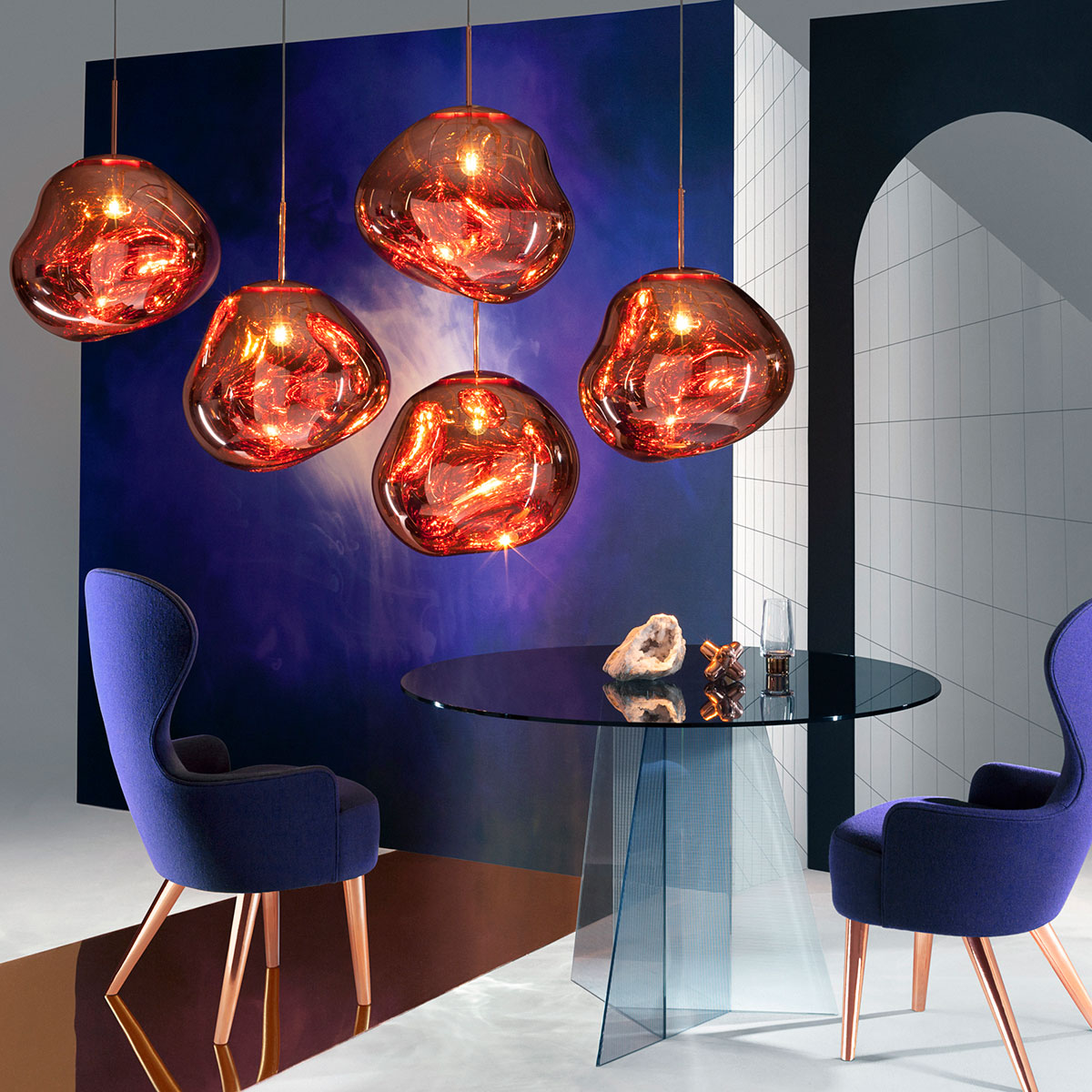 tom dixon melt pendant copper door front design oostende. Black Bedroom Furniture Sets. Home Design Ideas